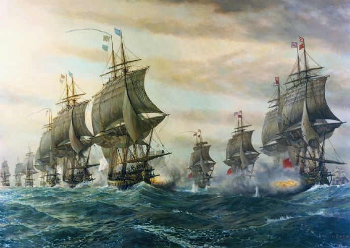 Second Battle of the Virginia Capes Aka. Battle Of The Chesapeake. Art Print/Poster. (5155)